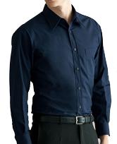 長袖カラーシャツ