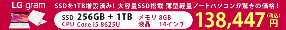 LG14zssd1tb増量