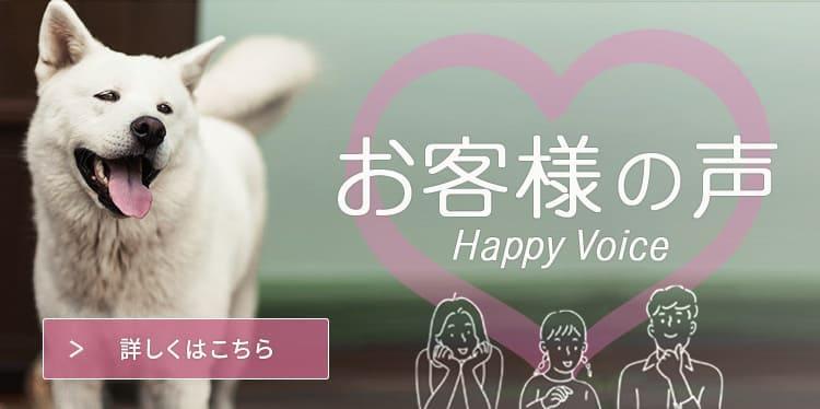お客様の声 Happy Voice