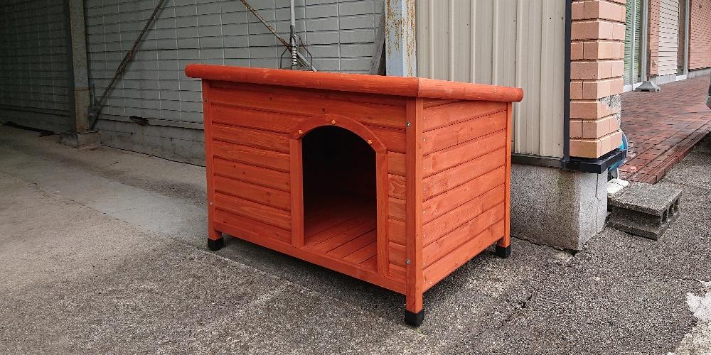 【ガレージの軒下】片屋根木製犬舎の設置イメージ
