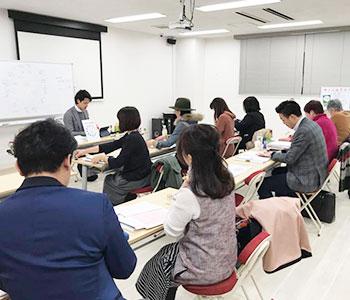日本アロマカラー協会 レッスン風景