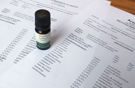 ペパーミントの成分含有量
