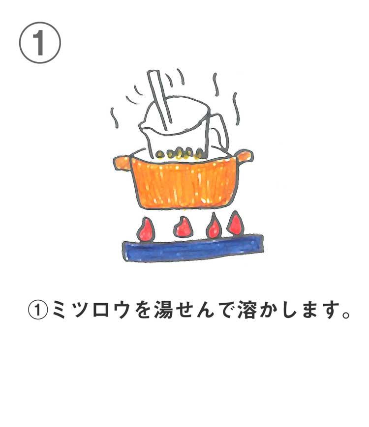 保湿リップクリームの作り方1