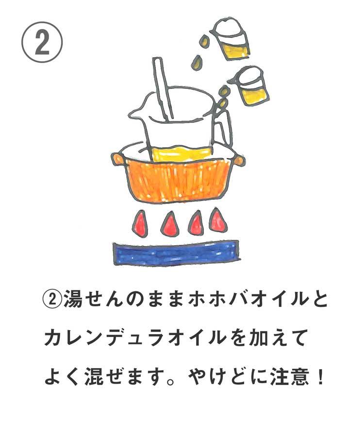 保湿リップクリームの作り方2