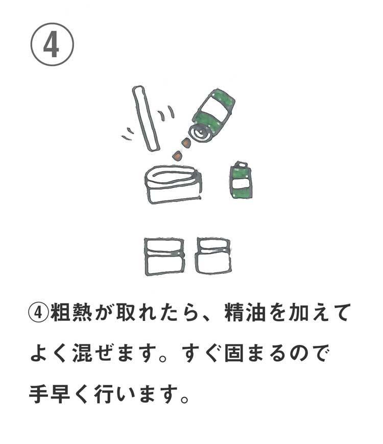 保湿リップクリームの作り方4