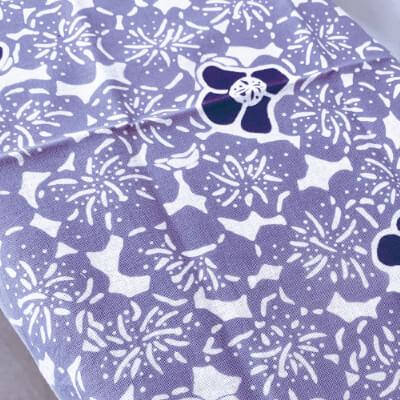 手ぬぐい「花(紫)」総柄