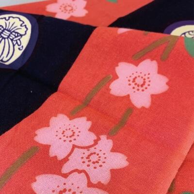 手ぬぐい「歌舞伎衣裳・道成寺」桜