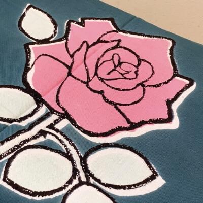手ぬぐい「バラ(ピンク)」花