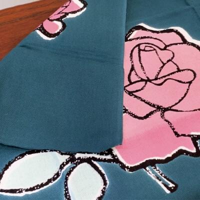 手ぬぐい「バラ(ピンク)」女性へのプレゼント