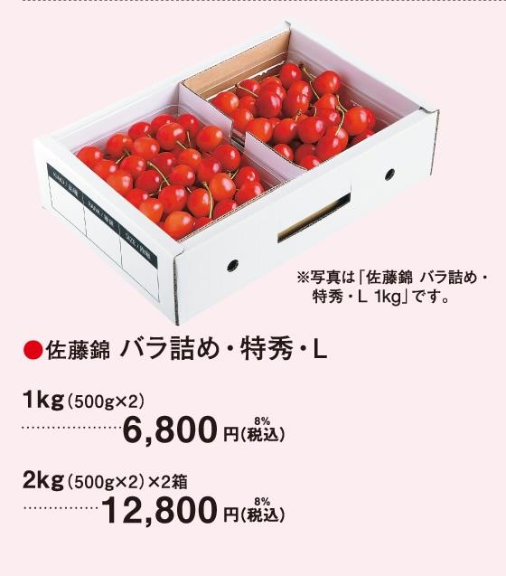 佐藤錦 バラ詰め・特秀・L