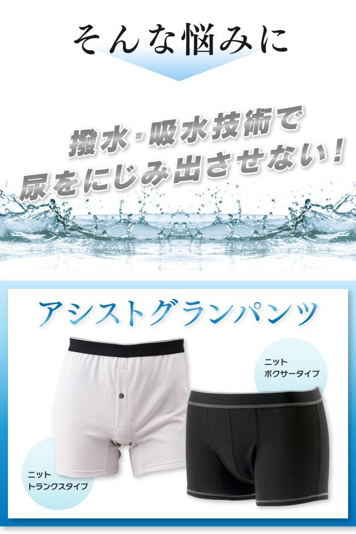 そんな悩みに 撥水・吸水技術で尿をにじみ出させない!