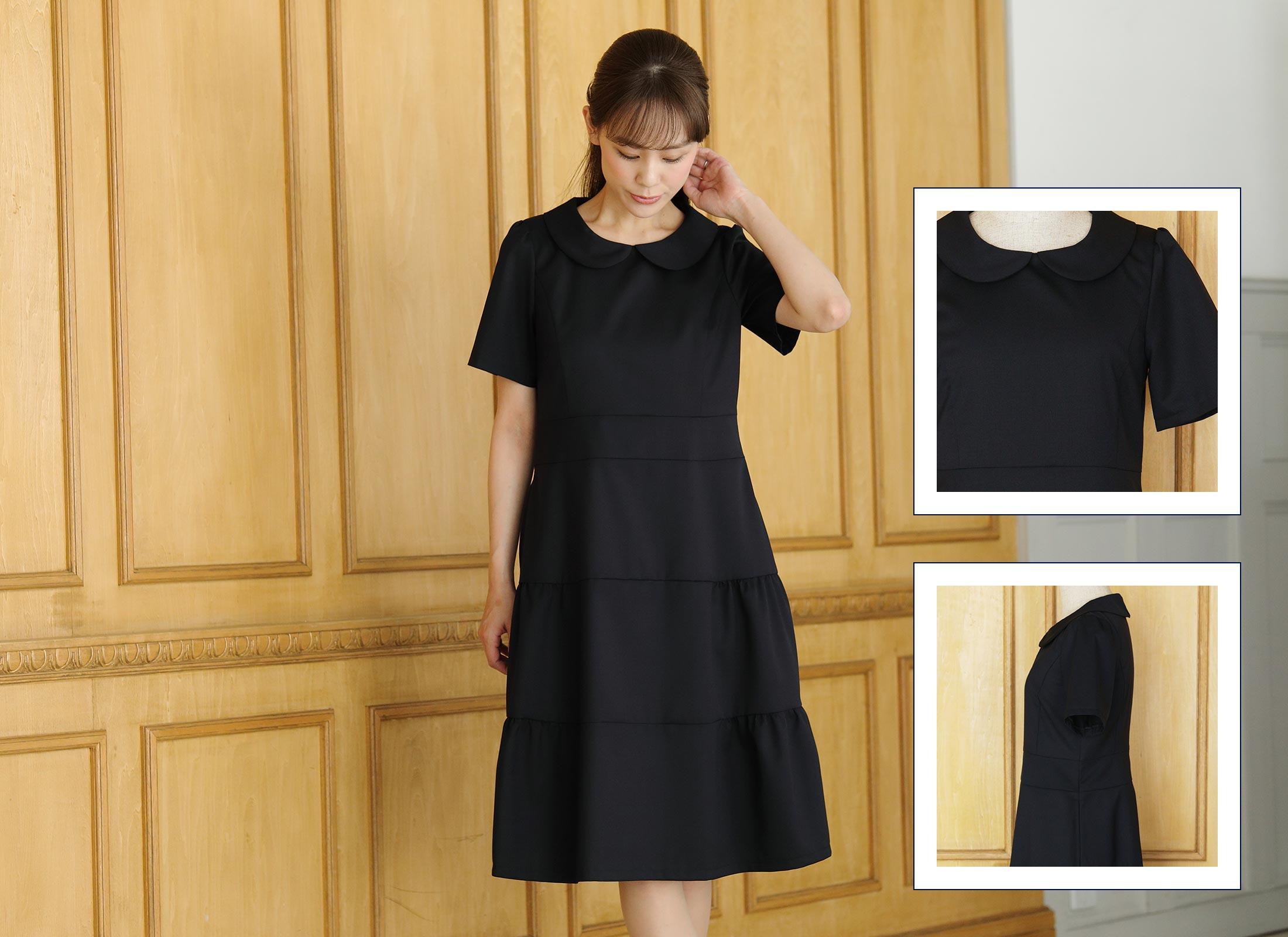 丸襟ギャザースカートドレス