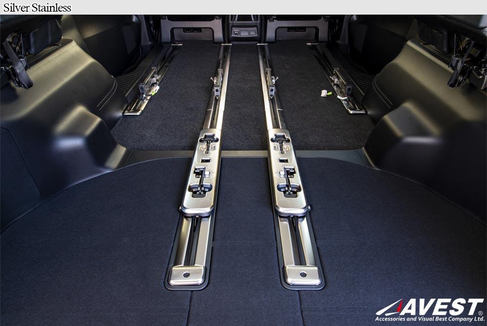 アルファードヴェルファイア30系の傷ついたシートレールを保護または傷隠しすることができるステンレスカバー
