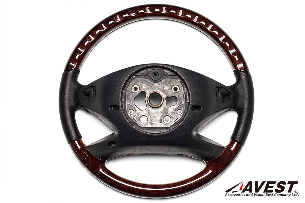 メルセデスベンツ/W221/後期/Sクラス/ステアリング/ハンドル/レザー/ウッド/コンビ/パーツ/内装/Mercedes/Benz
