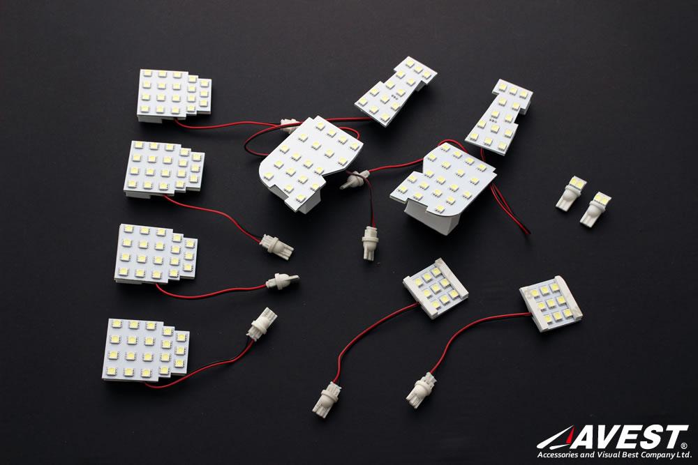 高輝度SMDチップ搭載アルファードヴェルファイア30系LEDルームランプセット
