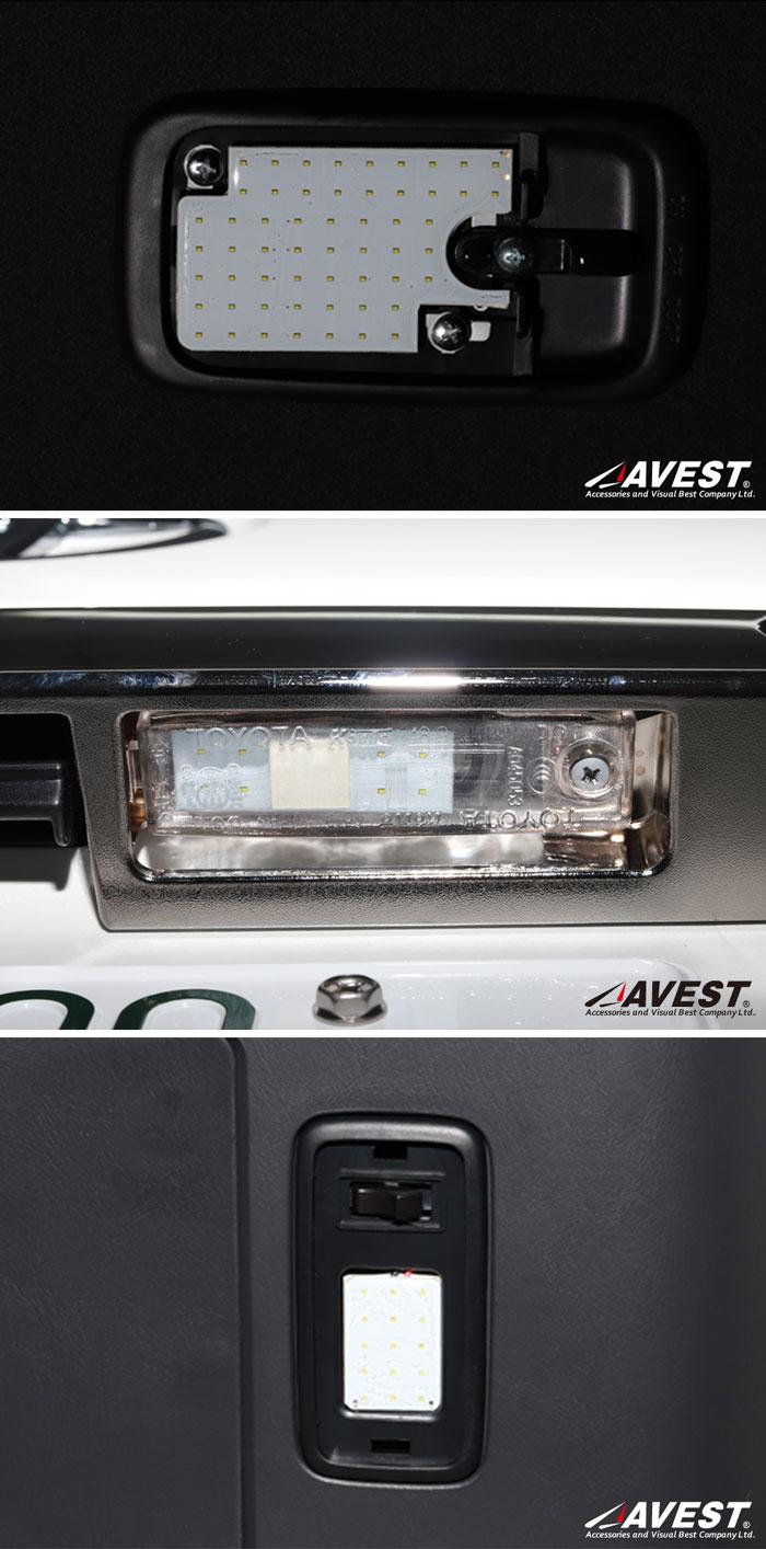 ハイエース/200系/4型S-GL対応/LEDルームランプセット/COBタイプ
