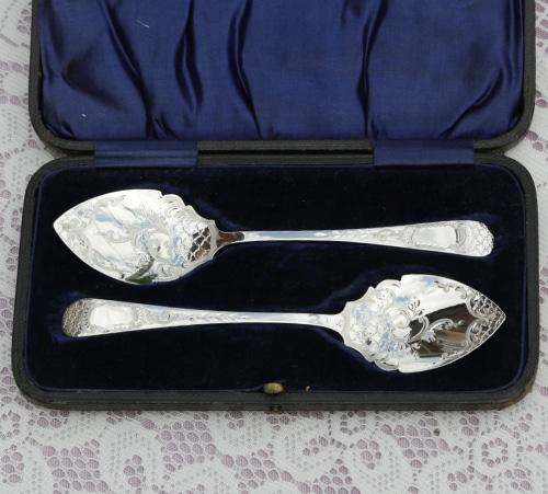 純銀製 ジャムスプーン 2本セット