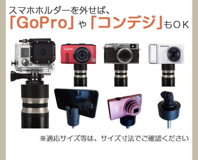 GoProやコンデジでも利用可能!