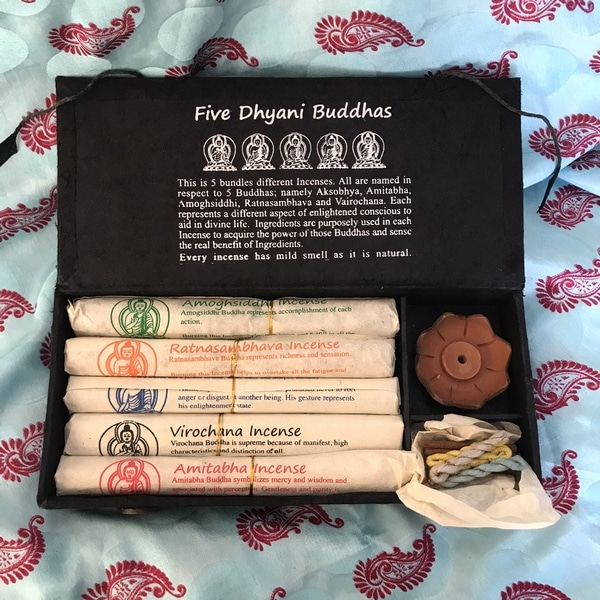 ネパール香/五仏香/Five Dhyani Buddhas/お香セット/ギフトボックス