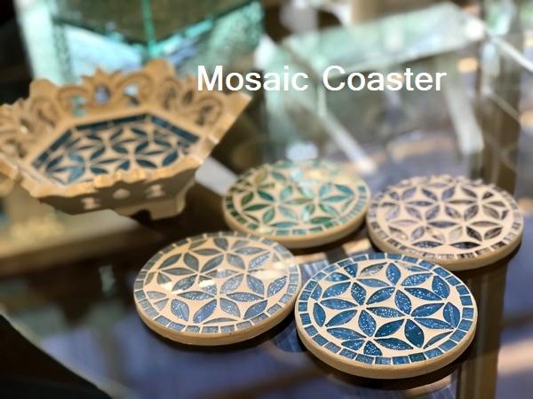 コースター/モザイクガラスのコースター/モザイクガラス/アジアンキッチン雑貨