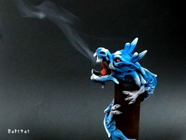 竜お香立て/スティック香立て/煙を吐くドラゴン
