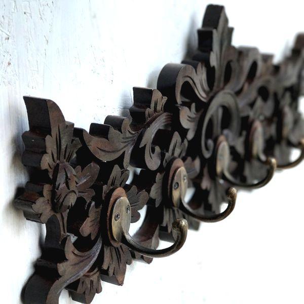 木彫りのフック/フック