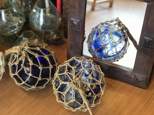浮き玉/ガラス浮き玉/バリ島インテリア