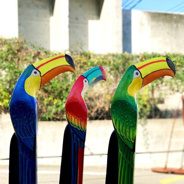 オオハシ木彫り/南国鳥