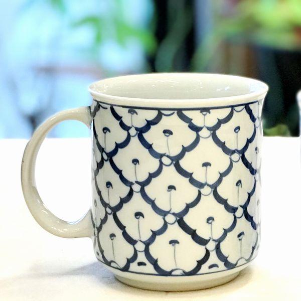マグカップ ブルー&ホワイト アジアン雑貨