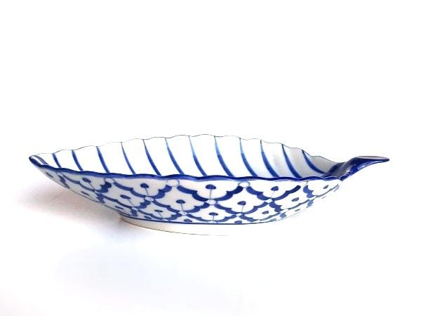 タイ食器/ブルー&ホワイト/パイナップル柄