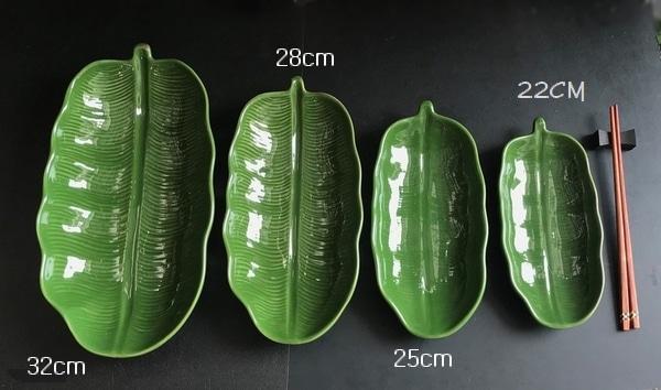 バナナリーフ皿/セラドン焼き/タイ食器