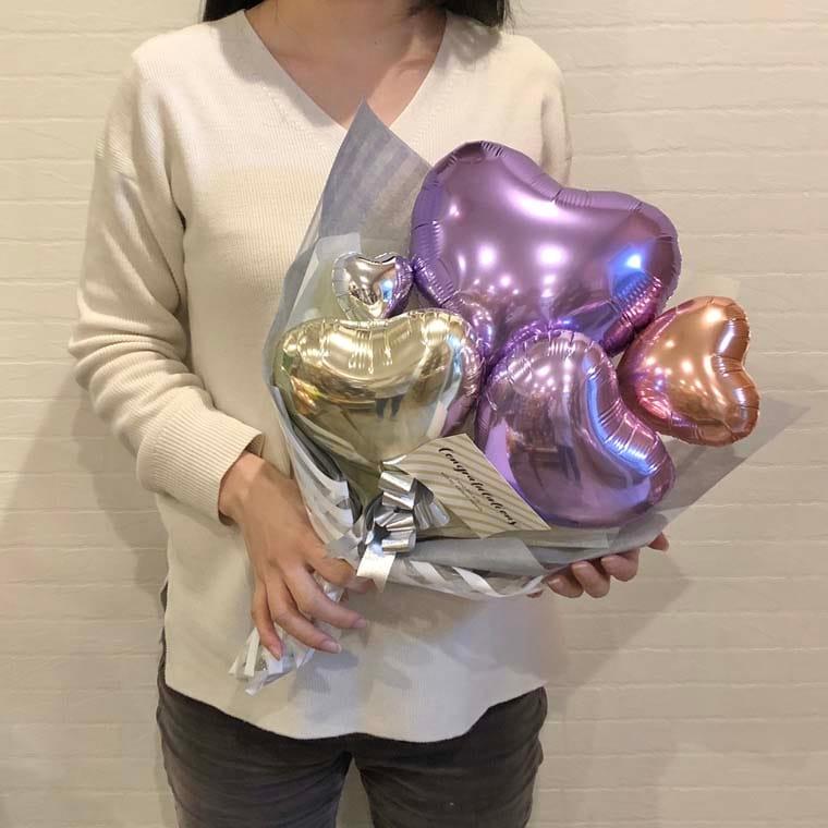 バルーン花束 ハートリーベの大きさ