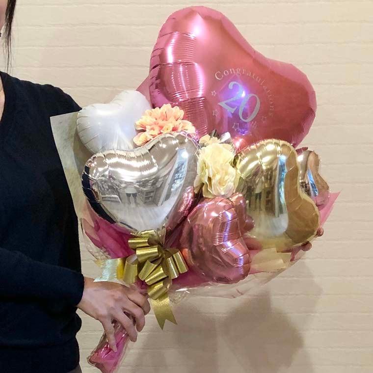 成人式用花束バルーン カラーが選べるアイブレックス20 サイズ
