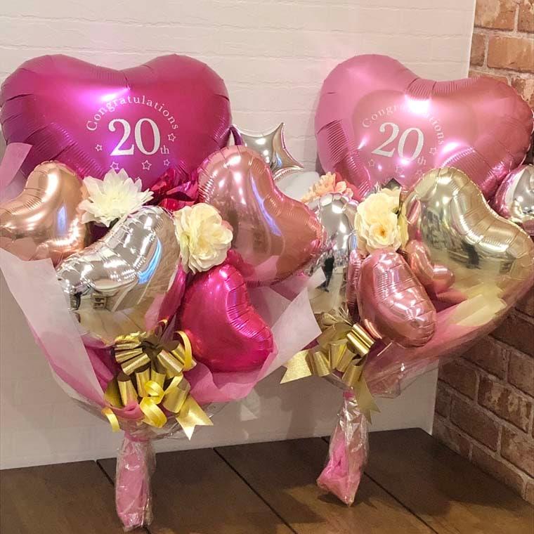 成人式用花束バルーン カラーが選べるアイブレックス20 拡大1