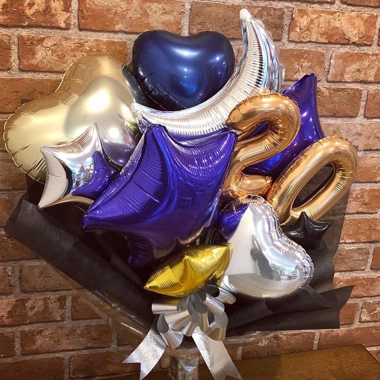 成人式用バルーン花束 カラーが選べるムーンスター20 拡大1