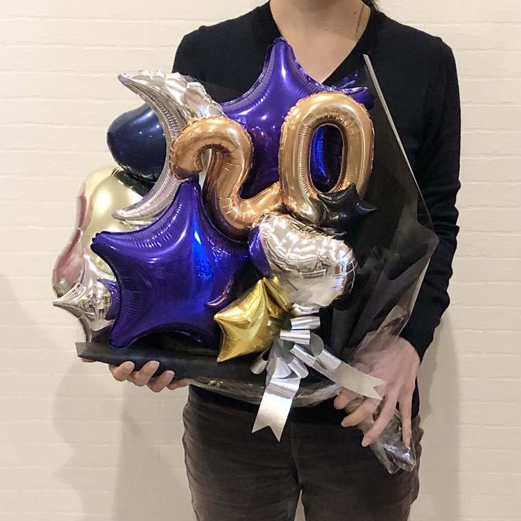 成人式用バルーン花束 カラーが選べるムーンスター20 サイズ