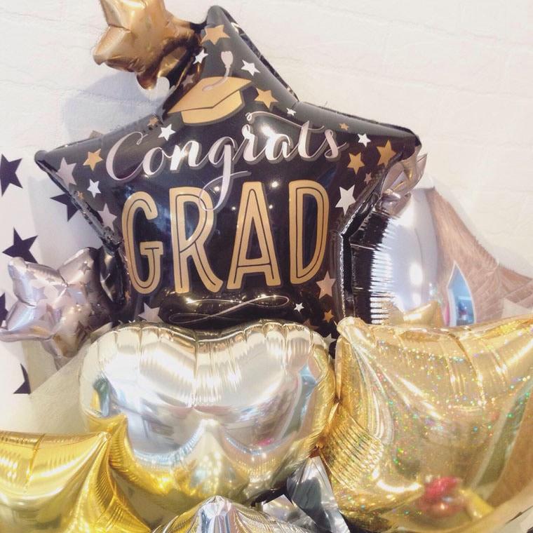 卒業用バルーン花束 グラッドスターブラックの拡大