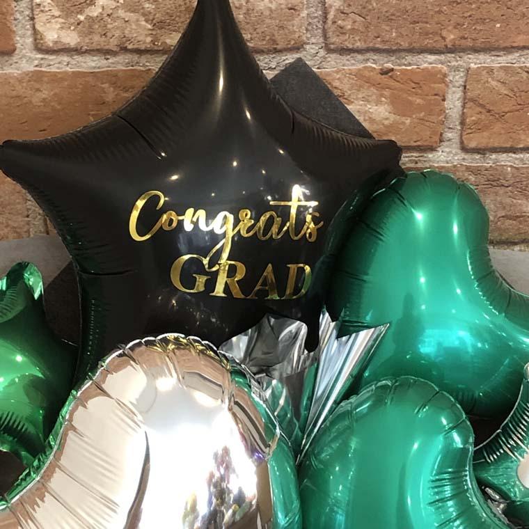 卒業祝いバルーン 黒と緑
