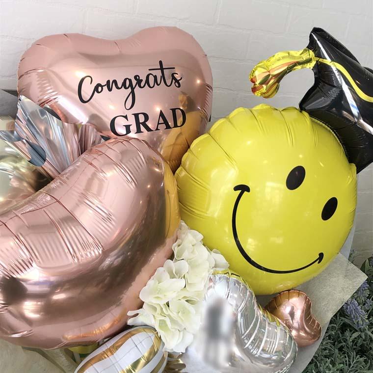 卒業式お祝いバルーン コングラッツグラッド