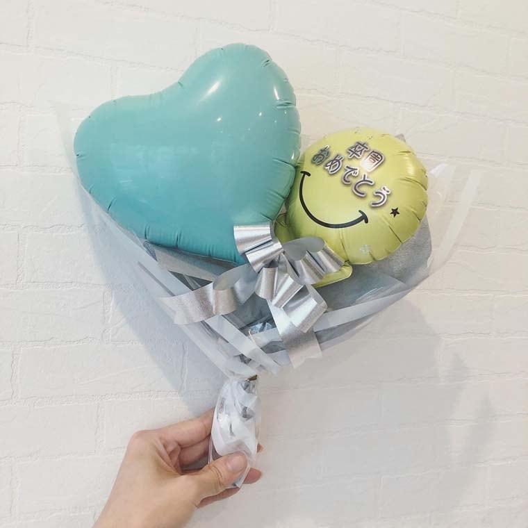 卒園・卒業用 ミニバルーン花束 パステル サイズ