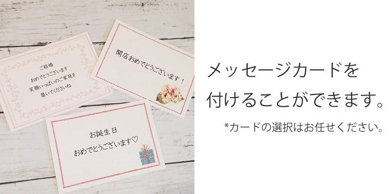 メッセージカードを付けることができます。