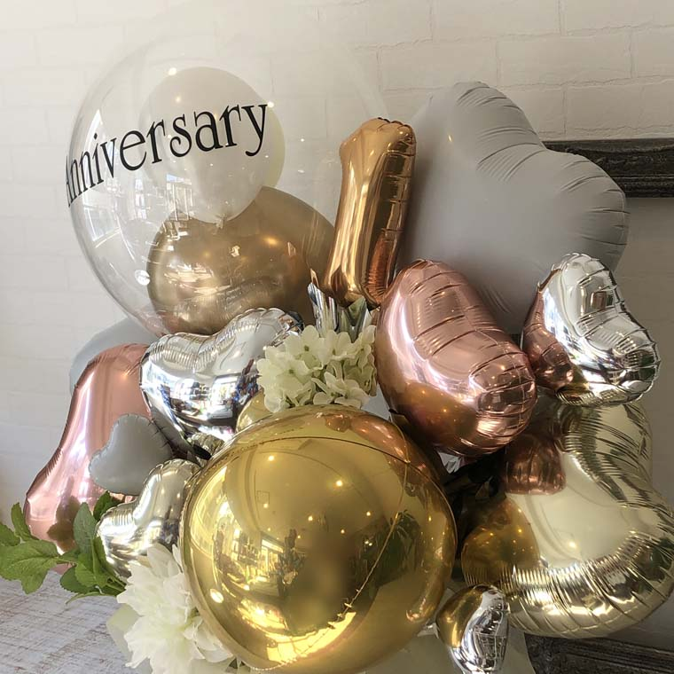 お好きな数字・メッセージが入れられる☆ 開店・周年・お誕生日の贈り物にも! Anniversaryゴールド 拡大2