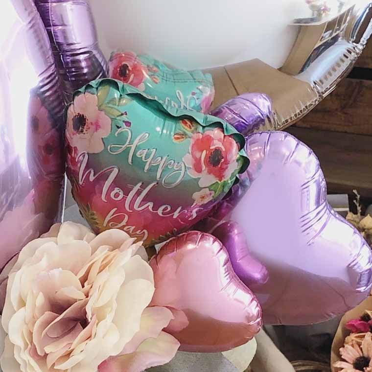母の日のプレゼントに☆ HappyMothersDayバルーン入り母の日専用置き型バルーンギフト 拡大1