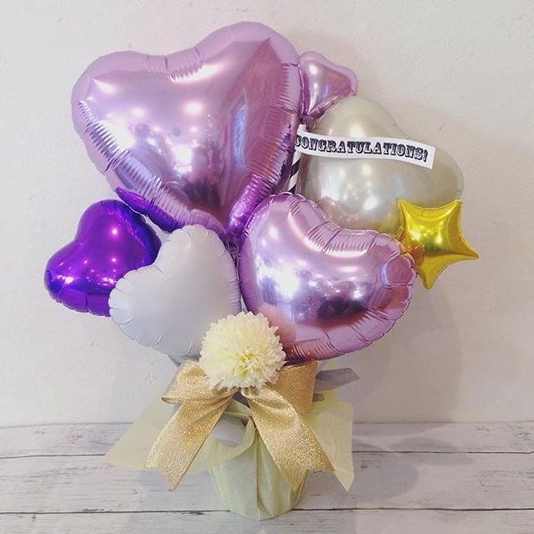 卓上タイプバルーンギフト紫