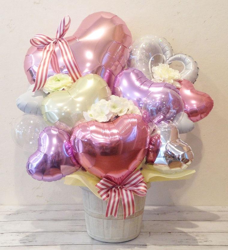 ピンクでかわいい開店祝い結婚祝いバルーンギフト