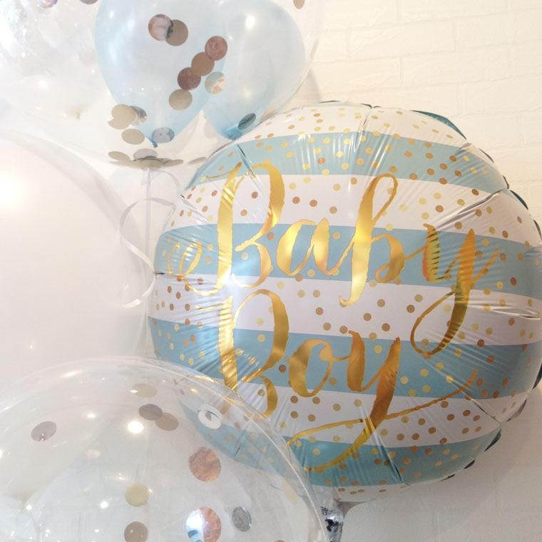 浮かぶバルーン 出産祝い 拡大1