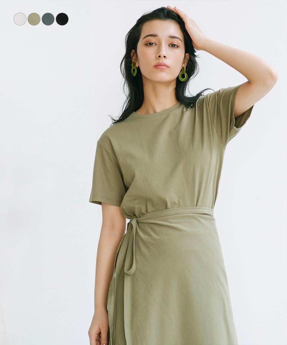 【2/17 NEW】Tシャツ&ラップスカートセットアップ