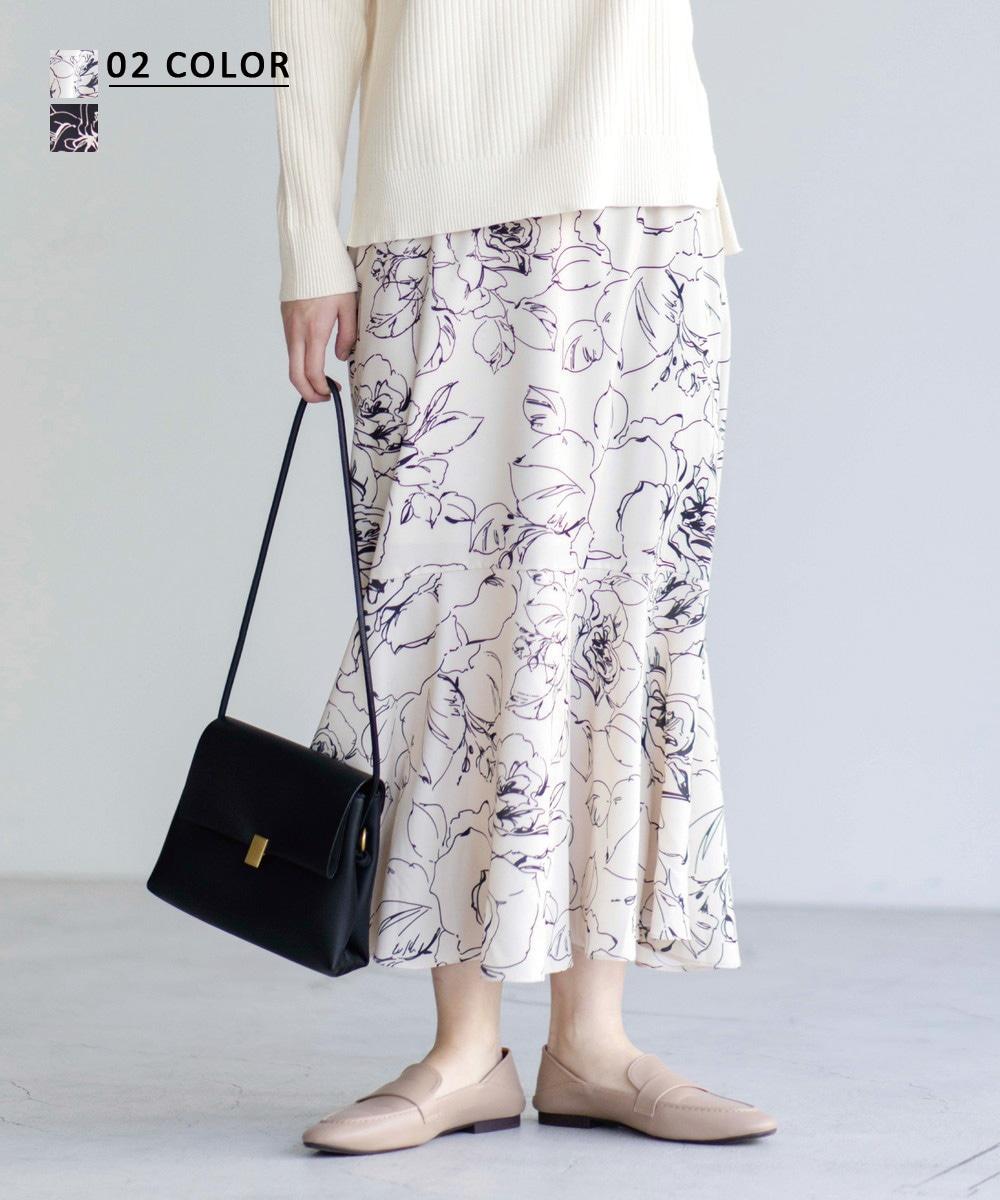 【1/7 NEW】フラワーマーメイドスカート