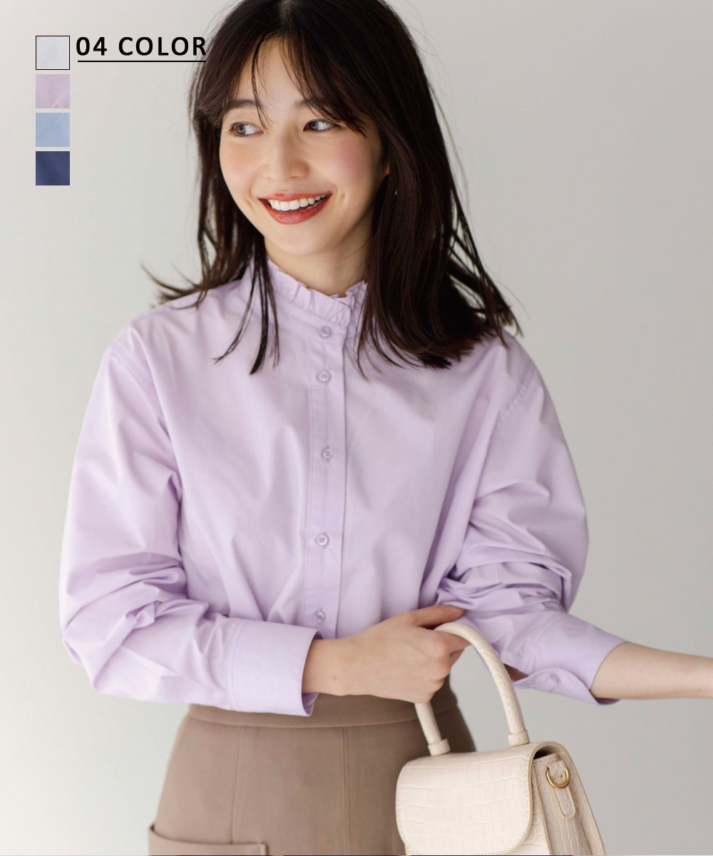 【12/28 NEW】フリル襟シャツ