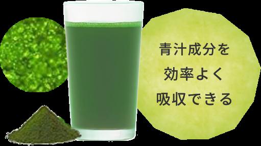 青汁成分を効率よく吸収できる